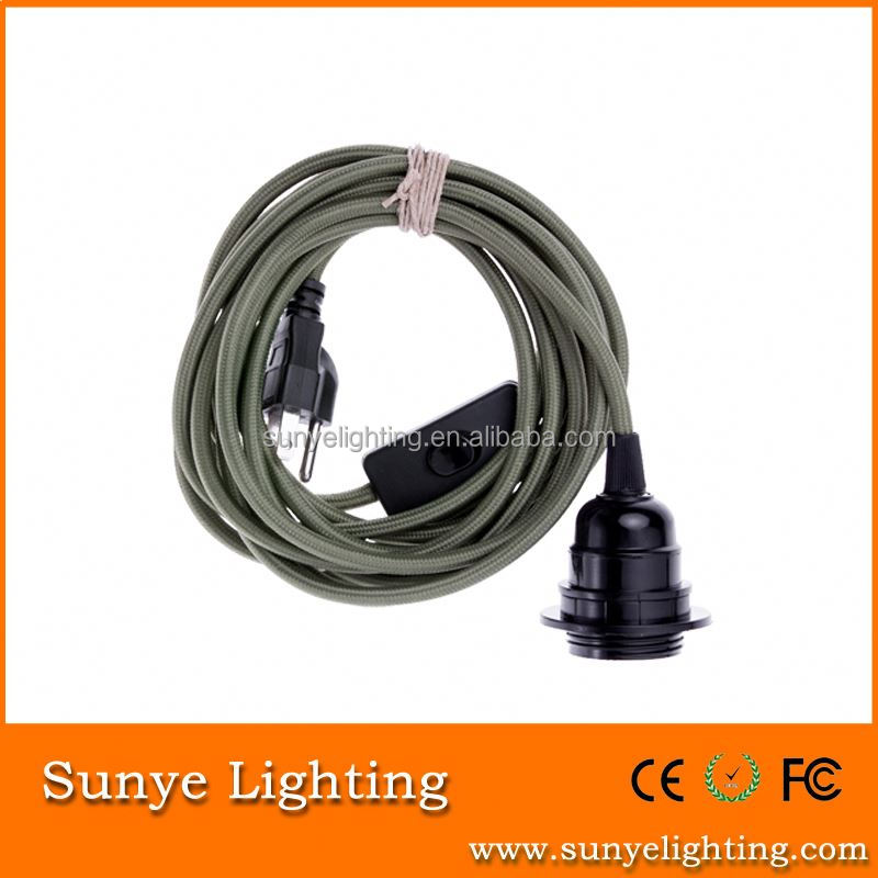 High quality electrical wire with switch and plug design your own plugs