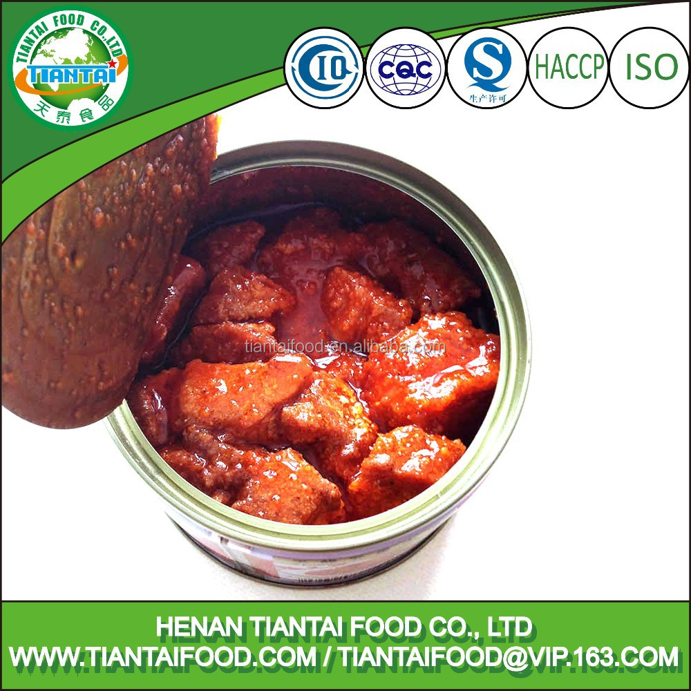 canned style and HACCP, ISO, QS certification pork meat canned pate