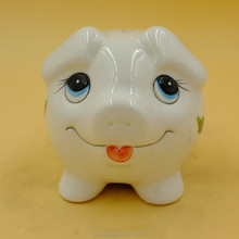 children gift big eyes pig shape ceramic money box