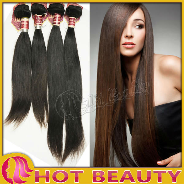 Durable last long model brazilian virgin hair 7a straight hair weft
