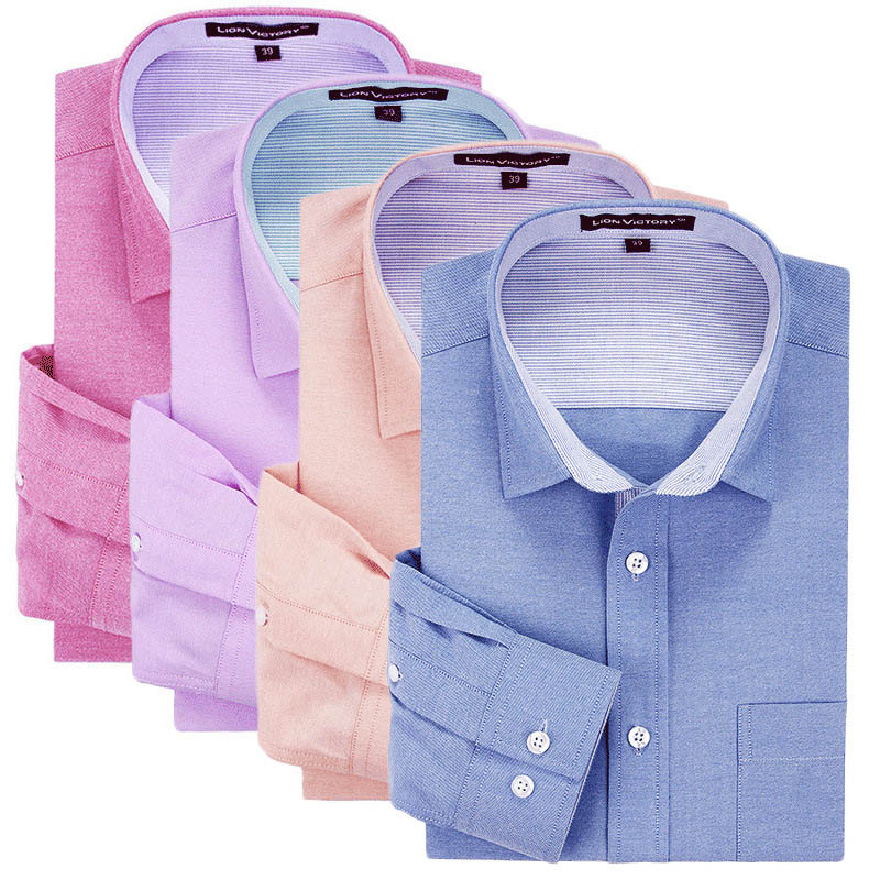 100% Cotton Oxford Plain Color Man's Slim Fit Long Sleeve Business Dress <strong>Shirt</strong>