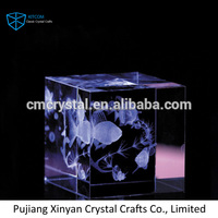 Wholesale K9 Blank Crystal Glass Block Cube for 3d laser engraving