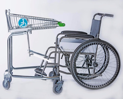 Hot sale disable shopping trolley for supermarket