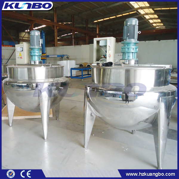 KUNBO 100-1000L Food Processing Cooking Double Jacket Steam Jacketed Kettle