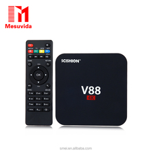 1G+8G SCISHION V88 TV Box Rockchip 3229 Quad Core 4K H.265 1GB + 8GBMini PC(EU plug)