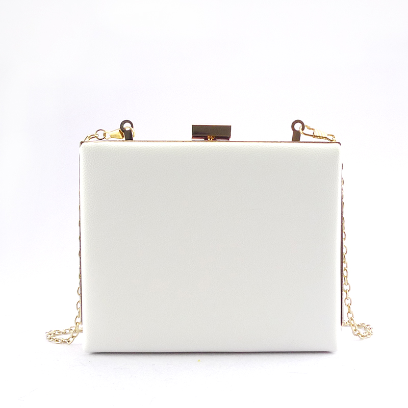 Newest trendy style hiagh quality 2016 elegance pu white cool purses and bags