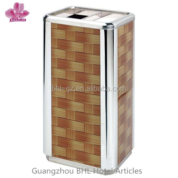 Rectangle-shaped Metal garbage can GPX-297B for sale, China Hotel appliance manufactures and wholesale supplier