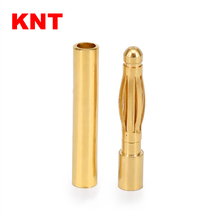 2.0mm Gold Plated Male Female Bullet Banana Plug Connector for DIY RC Battery ESC Motor
