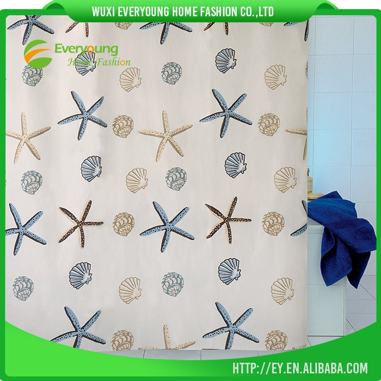 Eco-Friendly Feature And PE ,PEVA ,Water Proof Shower Curtain Fabric
