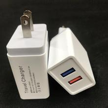 2 port 5v 2.1A usb travel charger wall colorful EU plug usb power adapter fast charging universal usb charger