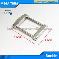 good-selling free sample metal bag buckle for wholesale square metal buckle with nickel color
