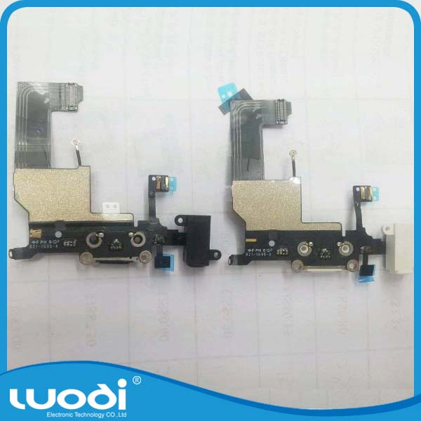 New Replacement USB Charging Port Plug Audio Jack Flex Cable For iphone 5