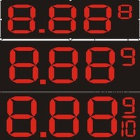 "programmable sign display board /led display pic hd 1r-1g-1b led display/32"" 36"" 48'' 60'' 72'' giant gas price sign good price"