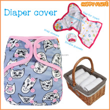 happy flute 2017 hot new products tiger print baby cloth diaper washable dry fast diaper cover with microfiber insert