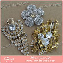 Crystal rhinestone sew on applique trim supply from factory