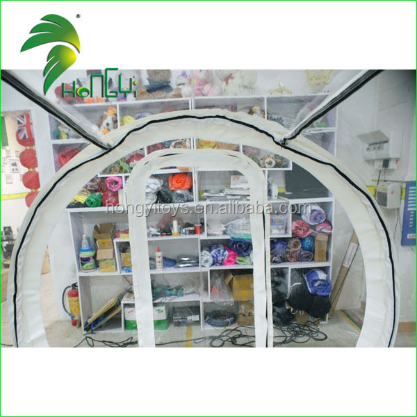 Good PVC material 6m inflatable transparent bubble tent in our factory
