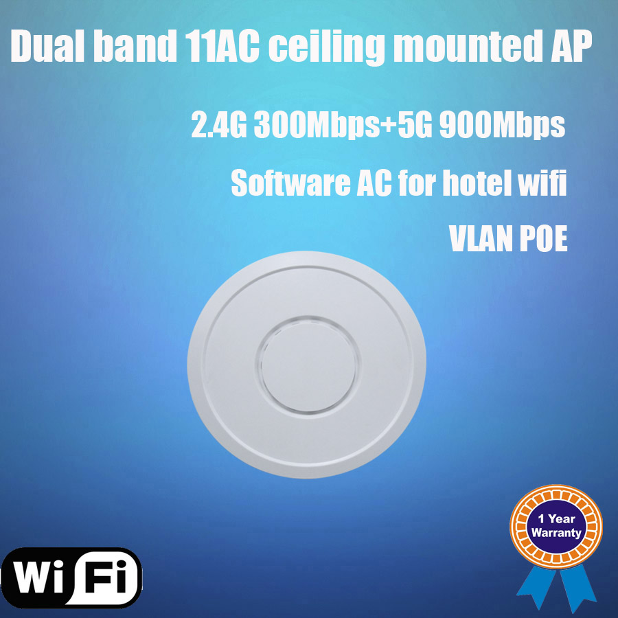XD9868 factory dual band 1200Mbps long range ac ceiling wireless router with ac management for hotel wifi project