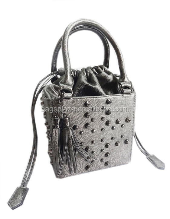 hot !! new shopping bag lady handbag with studs leather handbag fashion bag china CC41-057