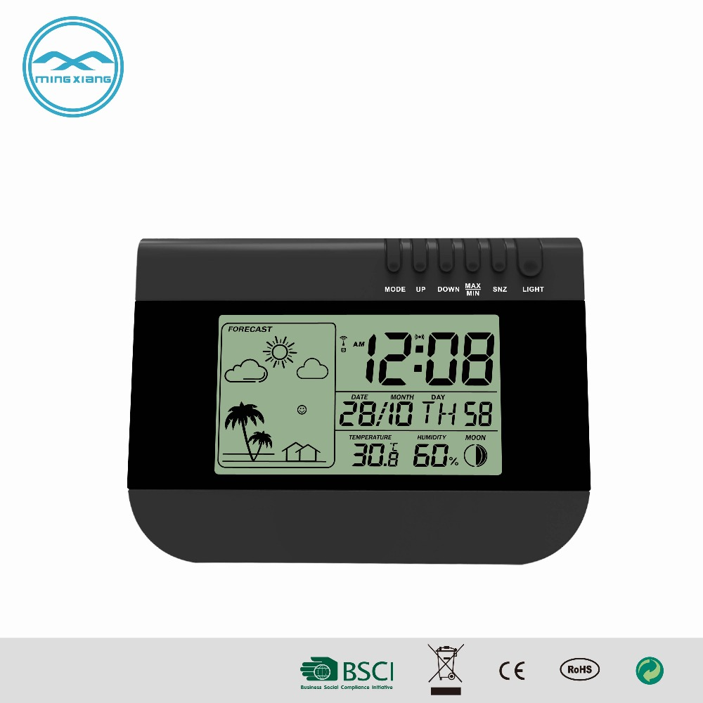 YD8205CE Digital Day Date Calendar Clock With Weather Forecast
