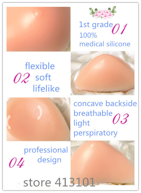ONEFENG AS Spiral Shape Fake Boob for Mastectomy Women Fake Breast Body Balance