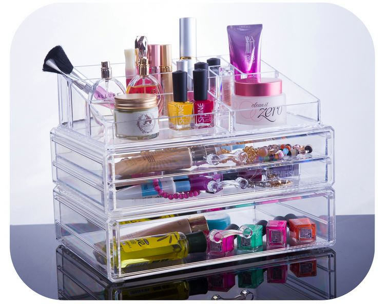 Wholesale Promotional Cheap Price europe acrylic makeup organizer with handle