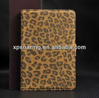 brown leopard leather case with credit card slot for ipad mini