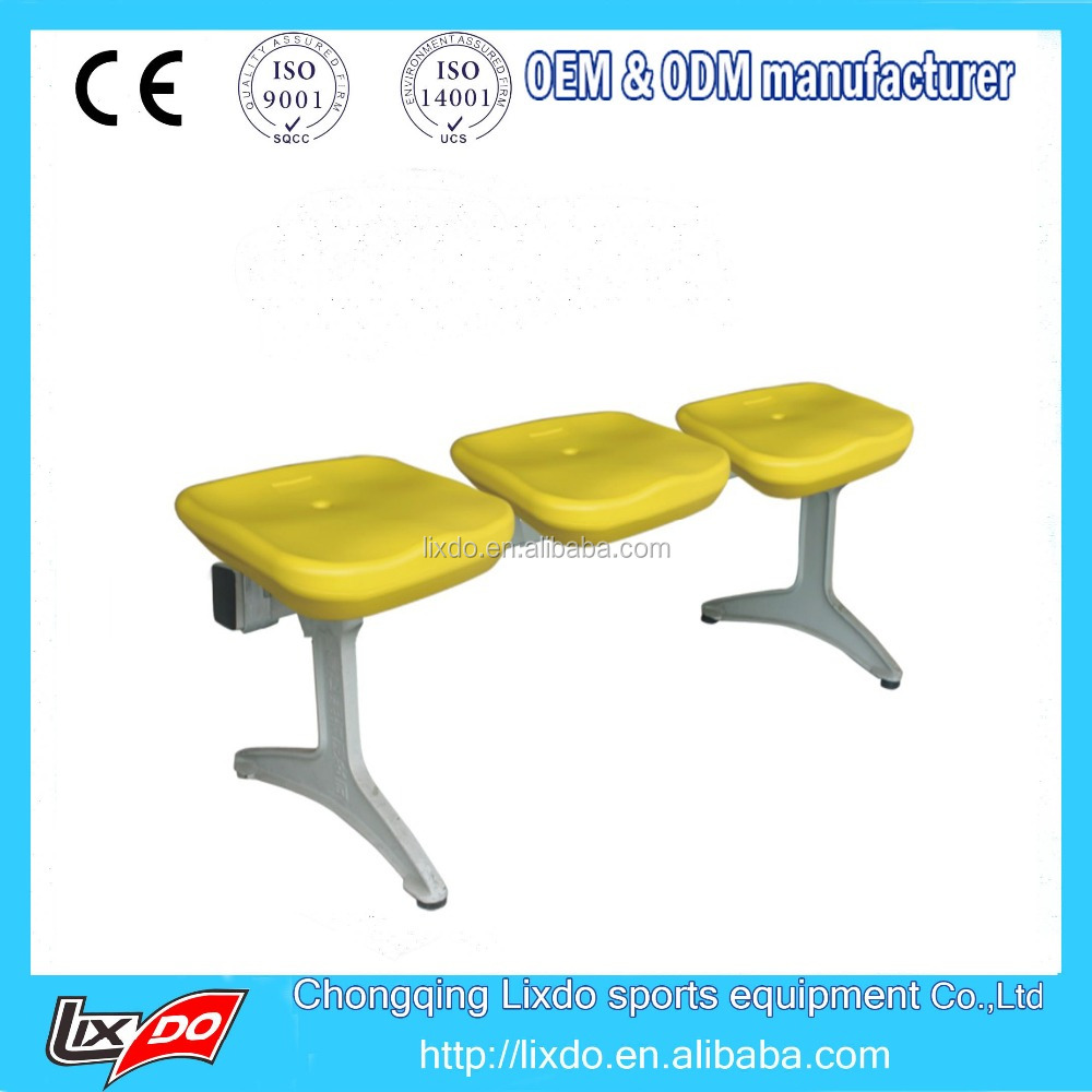 HDPE plastic stadium seats no back seats