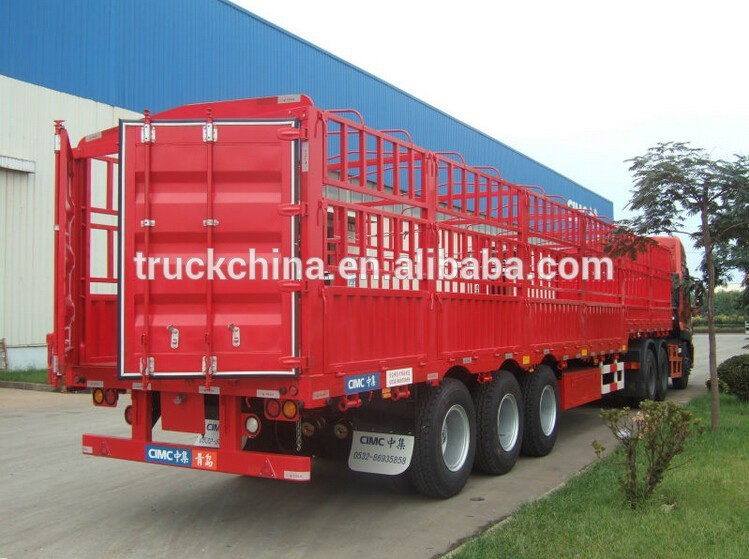 China Lufeng Tri- axle enclosed cargo trailer box semi trailer