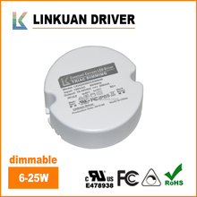 UL FCC Certified 100-132V Round shape triac dimmable 34v 25w constant current 280ma 700ma led driver