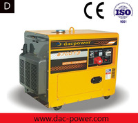 Sound proof diesel generator 6Kva generador electric with single cylinder diesel generator