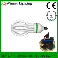 105w Lotus Energy Saving Lamps full/half spiral energy saving bulb CE ROHS t5 fluorescent lamp