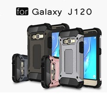 Dual layer Slim Armour Rugged Protective shockproof Case Cover for Samsung J120 --------- Laudtec
