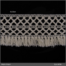 8.5cm ecru cotton crochet lace with tassel trimming design crochet collar lace pattern