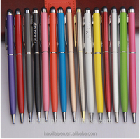 Multi color office & school Metal ballpoint pen capacitive touch stylus logo promotional metal pens