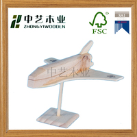 nature wood antique educational KD toys airplane