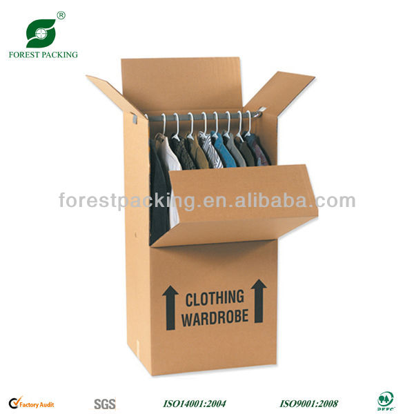 5 ply high quality kraft wardrobe corrugated moving box with color printing