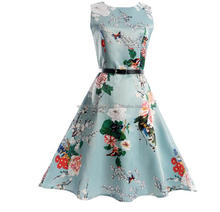 2017 Women's Vintage Rockabilly 1950s Dress Floral Style Cocktail Party Swing Dresses