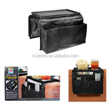 6 Pocket Arm Rest Organizer Remote Holder Tray Couch Sofa Recliner Chair Black