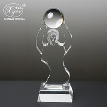 2018 New design crystal award trophy blank crystal memorial Achievement or Graduation trophy Plaque