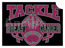 breast cancer rhinestone transfer iron on hot pink ribbon rhinestone motif