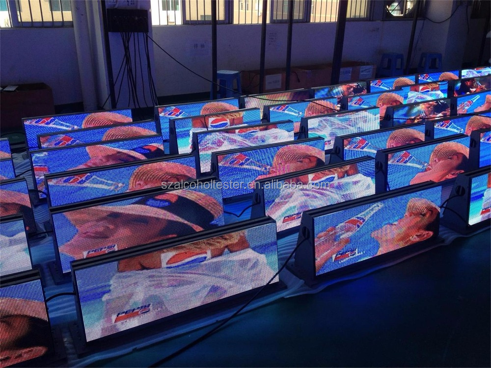 P5 outdoor mobile advertising led display screens for car top P5 Taxi Top LED Sign (view size 960x320mm) taxi top light
