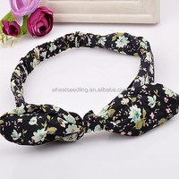 wholesale fabric floral custom printed hair elastic band with logo