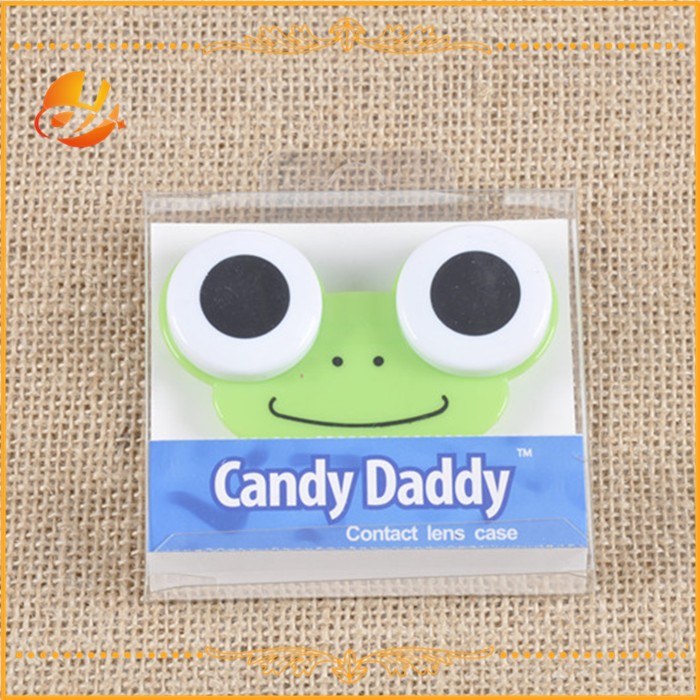 Cookie design coloful cheap plastic cute contact lenses case/box