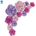 Beautiful handmade artificial foam paper flowers backdrops for decoration
