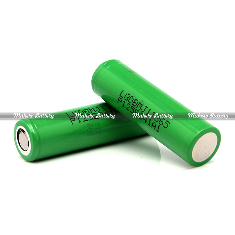 MJ1 18650 3.7V 3500mAh Lithium ion Battery with 10A Discharge/Green LG MJ1 rechargeable 18650 battery 3500mah