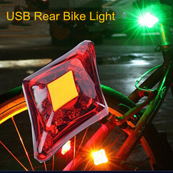 3 Mode Power Beam Outdoor Usb Mountain Led bike Tail light