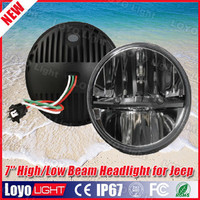 Replacement led driving light 30W round 7 inch led headlight for jeep