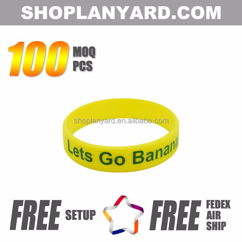good luck custom logo rubber bracelet silicone