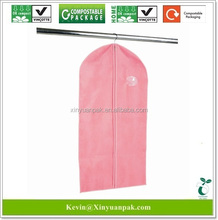 100% eco friendly PLA made biodegradable compostable dry cleaning foldable handing laundry bag