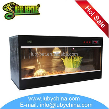 50cm 60cm 70cm Flat Packed PVC reptile cage terrarium vivarium for reptile animial, with lamp fitting and thermometer